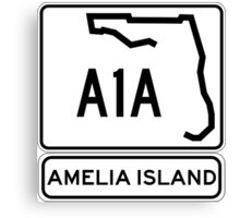 A1A - Amelia Island, Florida - Sun and Fun! Canvas Print