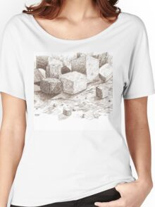Blocks and Cubes Women's Relaxed Fit T-Shirt