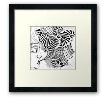 Zentangle Tangle Framed Print