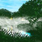 Mist on the River Ouse by Glenn  Marshall
