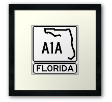 A1A - Florida - Sun and Fun! Framed Print