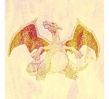 Fiery Charizard sketch Photographic Print
