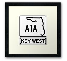 A1A - Key West, The Conch Republic Framed Print