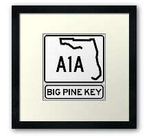 A1A - Big Pine Key Framed Print