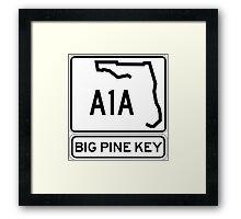 A1A - Big Pine Key Framed Print