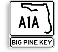 A1A - Big Pine Key Canvas Print