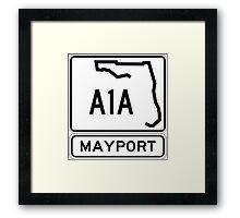 A1A - Mayport, Florida - Sun and Fun Framed Print