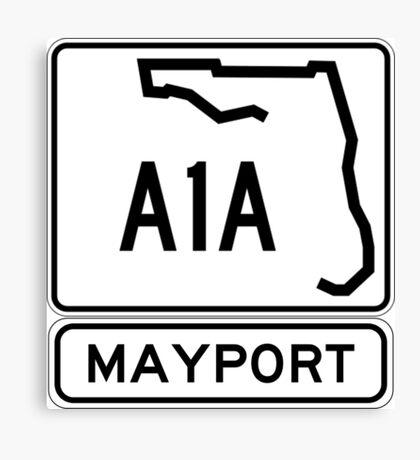 A1A - Mayport, Florida - Sun and Fun Canvas Print