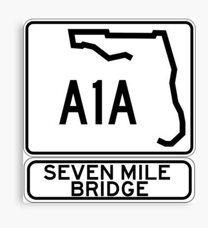 A1A - Seven Mile Bridge Canvas Print