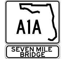 A1A - Seven Mile Bridge Photographic Print