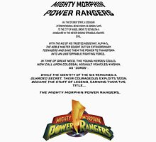 MMPR Movie Opening Credits Unisex T-Shirt