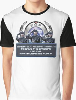 EDF - I am the Earth Defense Force Graphic T-Shirt
