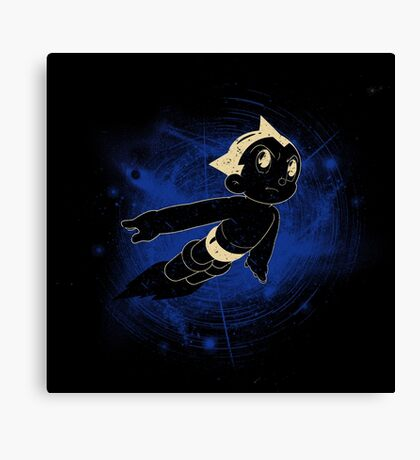 The boy made of machine Canvas Print