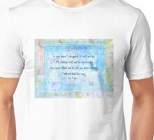 Pride and Prejudice Quote  Unisex T-Shirt
