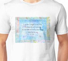 Pride and Prejudice Quote Jane Austen Unisex T-Shirt