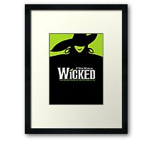 Wicked Broadway Musical - Untold Story about Wizard Of Oz - T-Shirt Framed Print