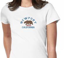 Newport Beach - California. Womens Fitted T-Shirt