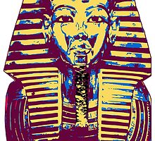 5- Colored King Tut Mask by creativenergy