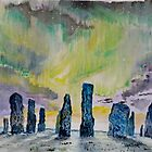 Winter Solstice at Callanish stone circle. by Joe Trodden