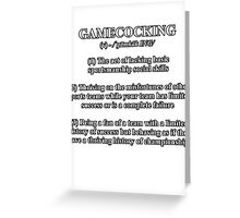 Gamecocking Greeting Card