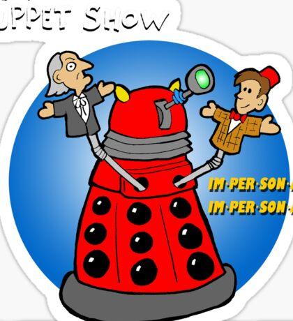 Timey Wimey Puppet Show Sticker