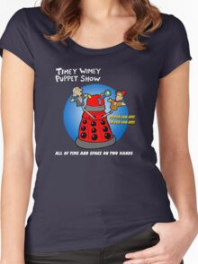 Timey Wimey Puppet Show Women's Fitted Scoop T-Shirt