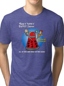 Timey Wimey Puppet Show Tri-blend T-Shirt