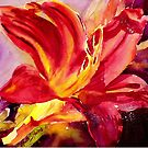 Red Day Lily by Ruth S Harris