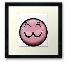 Cutesy Face Framed Print