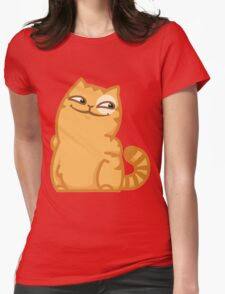 """Sly Cat """"Cookie"""" Womens Fitted T-Shirt"""