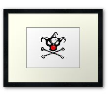 Bozo Skull 2  - Red Nose Framed Print
