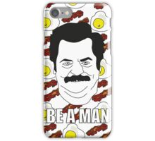 Ron Swanson - Eggs & Bacon iPhone Case/Skin
