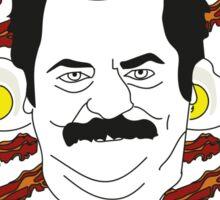 Ron Swanson - Eggs & Bacon Sticker