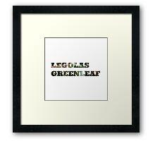 Legolas Greenleaf Framed Print