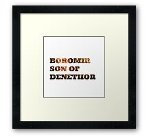 Boromir son of Denethor Framed Print