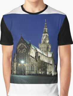 Glasgow Cathedral at Twilight Graphic T-Shirt