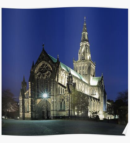 Glasgow Cathedral at Twilight Poster