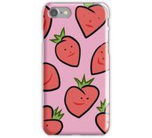 Happy Strawberries iPhone Case/Skin