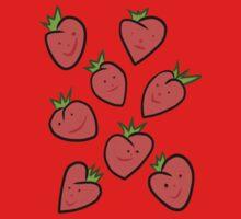 Happy Strawberries One Piece - Short Sleeve