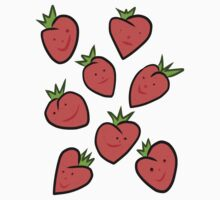 Happy Strawberries Baby Tee