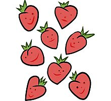 Happy Strawberries Photographic Print
