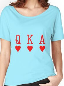Three cards of hearts Women's Relaxed Fit T-Shirt
