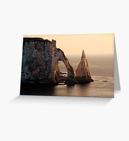 Etretat in the morning sun Greeting Card