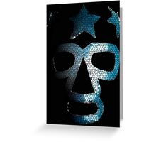 Masked Superstar in stained glass Greeting Card