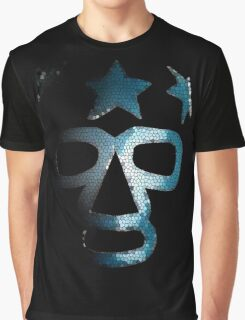 Masked Superstar in stained glass Graphic T-Shirt