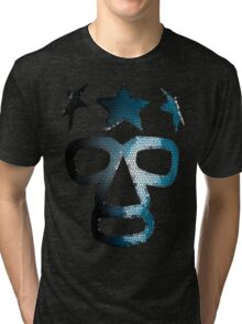 Masked Superstar in stained glass Tri-blend T-Shirt