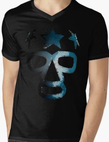 Masked Superstar in stained glass Mens V-Neck T-Shirt
