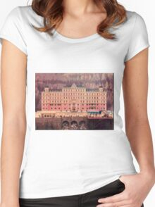 Grand Budapest Hotel - Lego version Women's Fitted Scoop T-Shirt