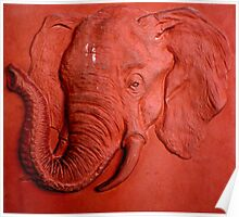 """Terracotta Elephant"" by Carter L. Shepard""  Poster"