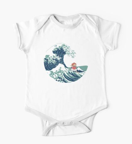 Ponyo and The Great Wave off Kanagawa - Moderne One Piece - Short Sleeve